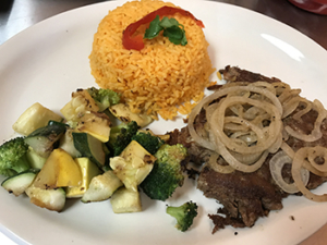 Vaca Frita / Grilled Shredded Beef with Mojo onions